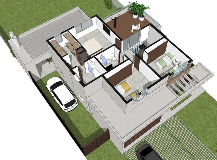 Planta Alta Equipada: Casas de estilo  por Raizar Arquitectura y Paisajismo,