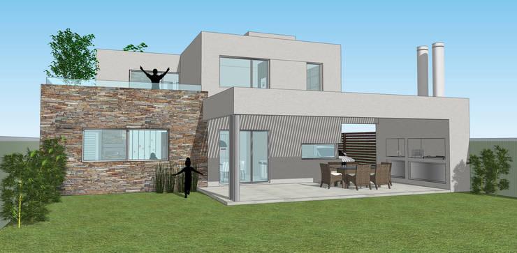Contrafrente: Casas de estilo  por Raizar Arquitectura y Paisajismo,