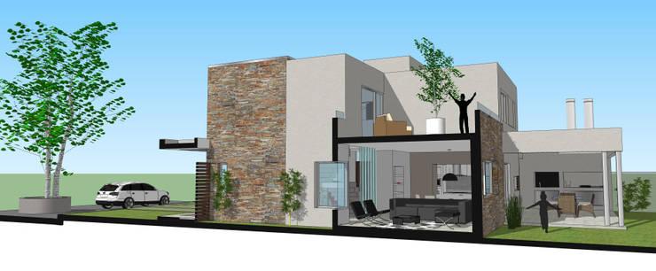 Corte Transversal: Livings de estilo  por Raizar Arquitectura y Paisajismo,