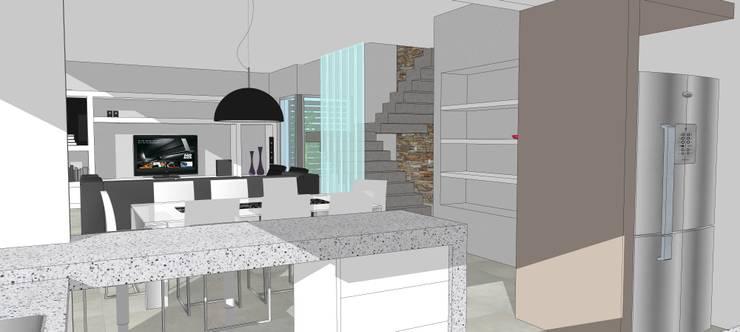 Perspectiva Interior: Comedores de estilo  por Raizar Arquitectura y Paisajismo,
