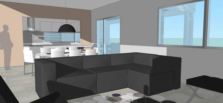 Perspectiva Interior: Livings de estilo  por Raizar Arquitectura y Paisajismo,