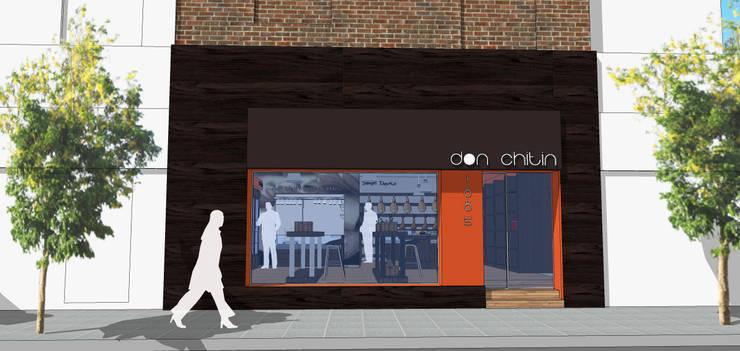 Fachada Propuesta: Oficinas y locales comerciales de estilo  por Raizar Arquitectura y Paisajismo,