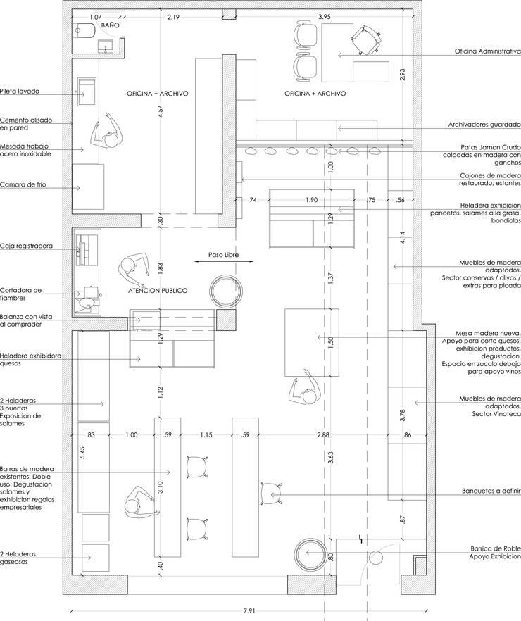 Planta Arquitectura: Oficinas y locales comerciales de estilo  por Raizar Arquitectura y Paisajismo,