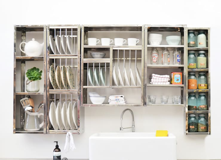 Modular shelving: industrial Kitchen by The Plate Rack
