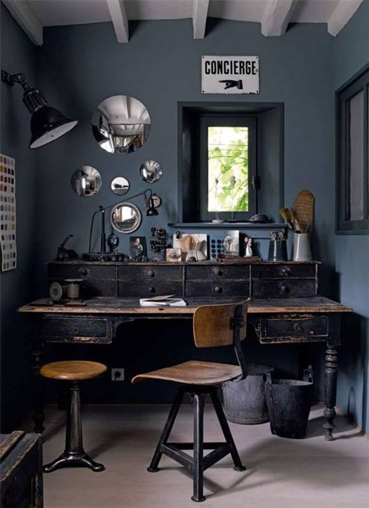 Evinin Ustası – Evinizde Gri Rengi Kullanmanın 7 Yolu:  tarz Çalışma Odası, Endüstriyel