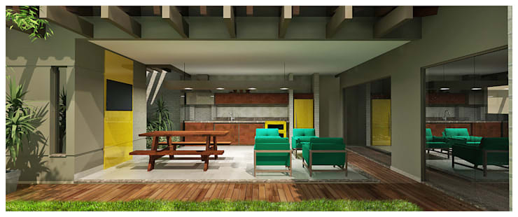 Área de Lazer Gourmet: Garagens e edículas  por Shiota Arquitetura