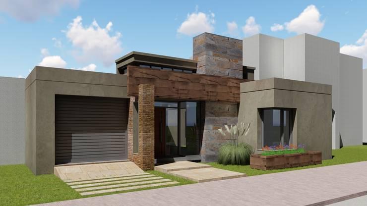 Vivienda JC: Casas de estilo ecléctico por ARBOL Arquitectos