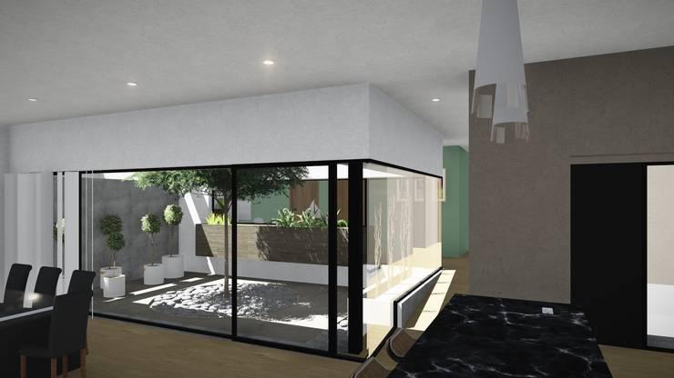 Casa Patio: Jardines de invierno de estilo  por ARBOL Arquitectos ,
