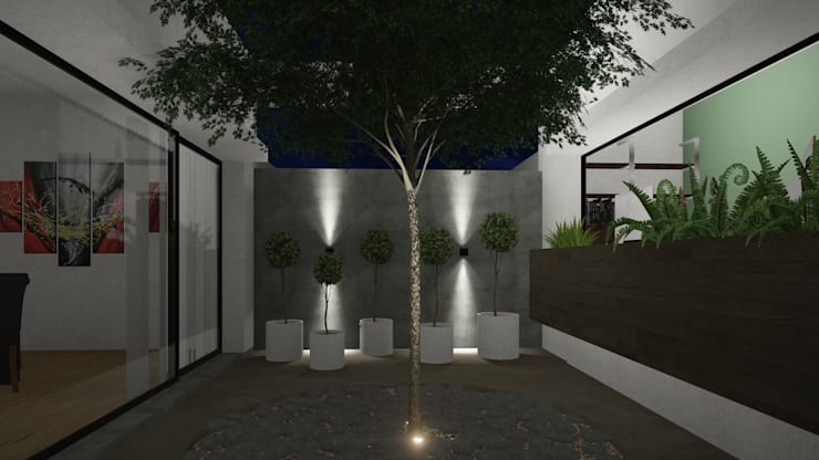 Casa Patio: Jardines de estilo  por ARBOL Arquitectos ,
