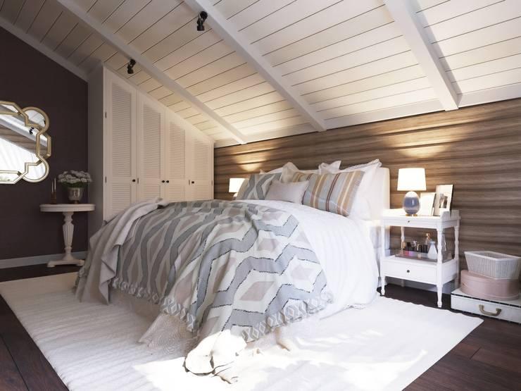 Интерьер спальни: Спальни в . Автор – Open Village