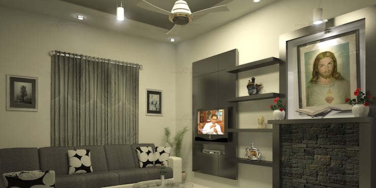 Stunning :  Living room by Premdas Krishna ,Classic