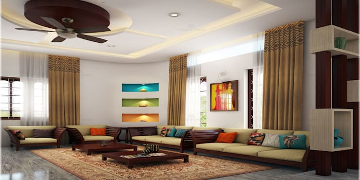 Magnificent:  Living room by Premdas Krishna