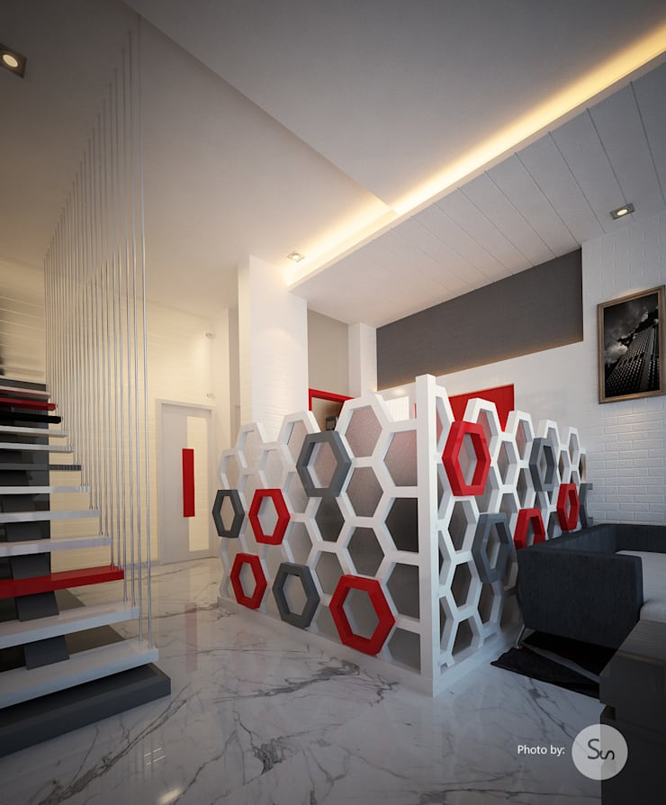 Office Interior: modern Study/office by sudin patil architects