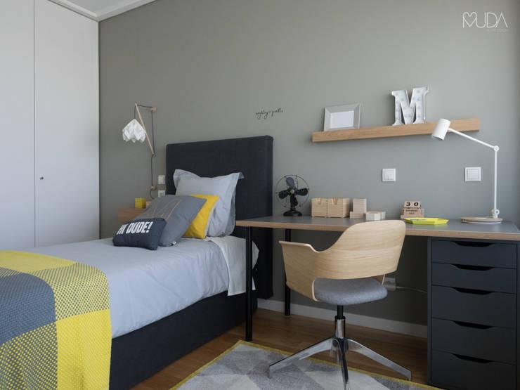 غرفة نوم تنفيذ MUDA Home Design