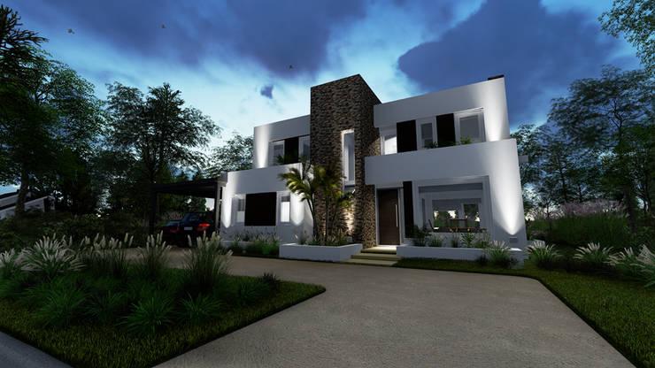 vista atardecer:  de estilo  por Rocha & Figueroa Bunge arquitectos,