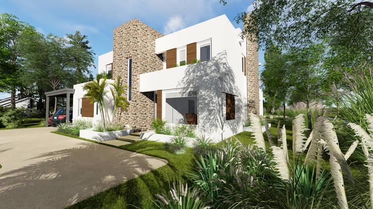 vista sobre frente:  de estilo  por Rocha & Figueroa Bunge arquitectos,