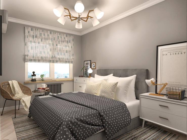 Dormitorios de estilo  por AlexLadanova interior design