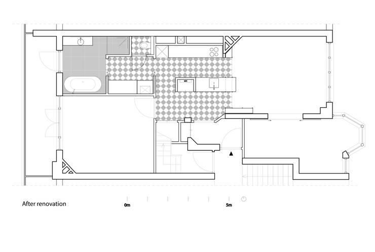After renovation:   door Kevin Veenhuizen Architects