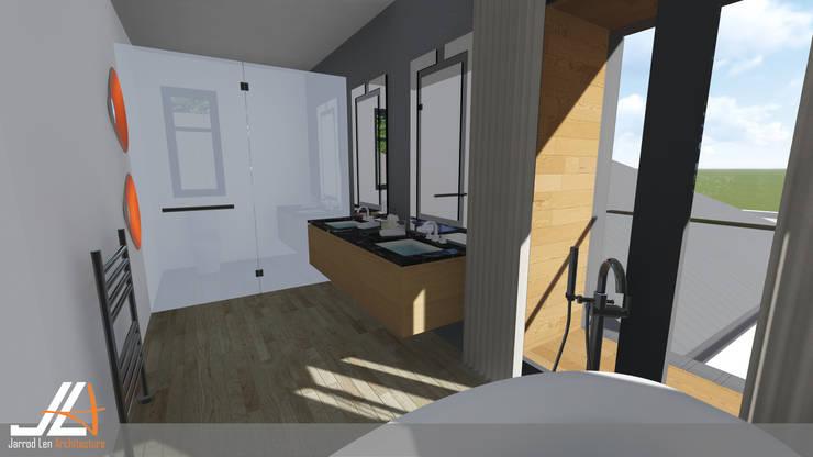 Craighall Park Residence:  Bathroom by JLA - Jarrod Len Architecture