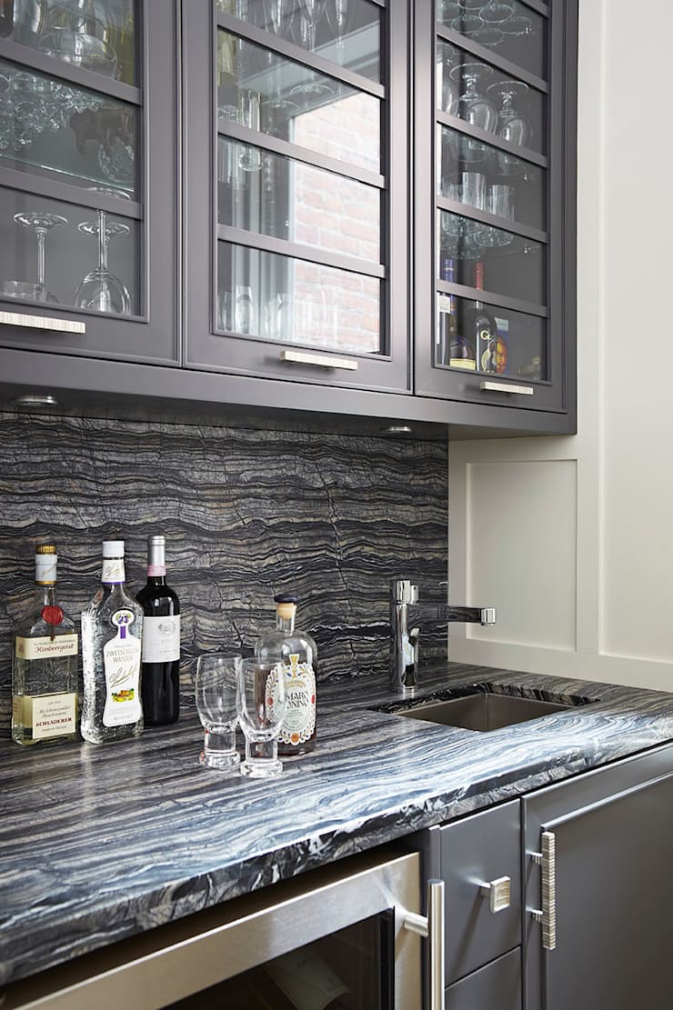 Bar Area:  Kitchen by Douglas Design Studio