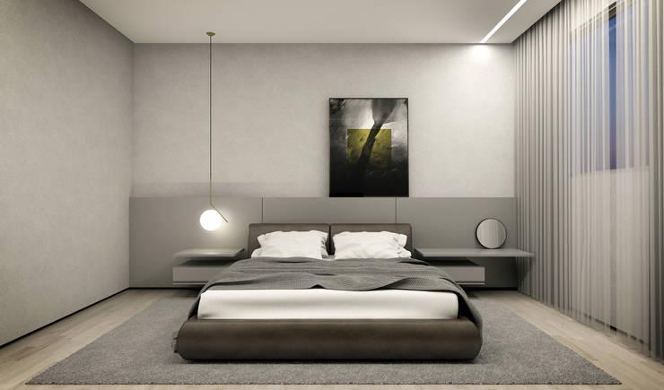 غرفة نوم تنفيذ RAFE Arquitetura e Design