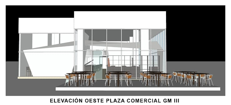 Restaurant Piano Bar:  de estilo  por ALBUERNE ARQUITECTOS