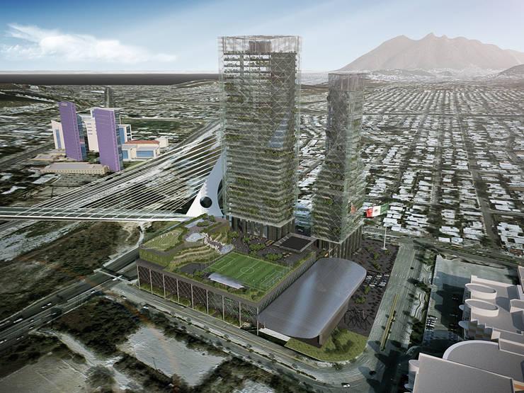 Centro Civico San Pedro: Centros Comerciales de estilo  por ALBUERNE ARQUITECTOS