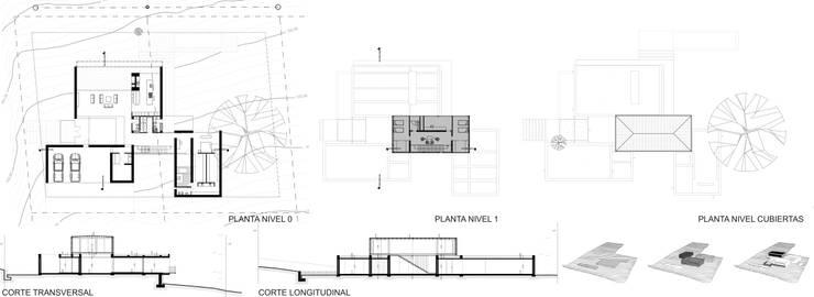 Casa Finca Cuyaya:  de estilo  por Horizontal Arquitectos,