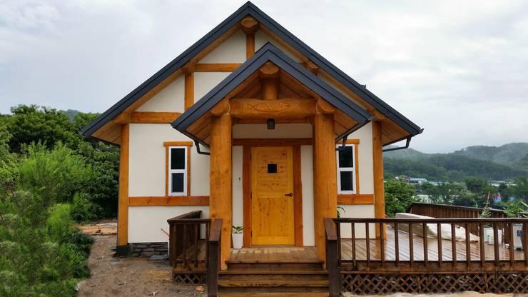 25평 소형통나무집- 부여주택: 보국주택의