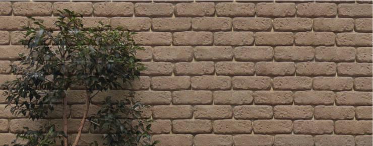 Piedra Adobe Hacienda: Paredes y pisos de estilo  por ENFOQUE CONSTRUCTIVO