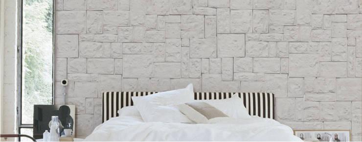 Piedra Almodonada Caribe: Paredes y pisos de estilo moderno por ENFOQUE CONSTRUCTIVO