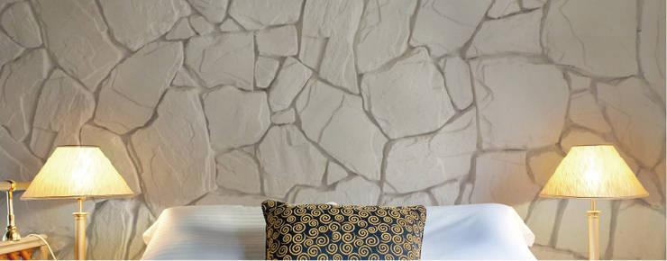 Piedra Alto Relieve Caribe: Paredes y pisos de estilo moderno por ENFOQUE CONSTRUCTIVO