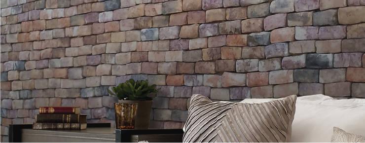 Piedra Tabique Cabeceado Temixco: Paredes y pisos de estilo moderno por ENFOQUE CONSTRUCTIVO