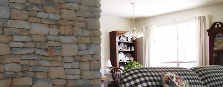 Piedra Huasteca Hidalguense: Paredes y pisos de estilo moderno por ENFOQUE CONSTRUCTIVO