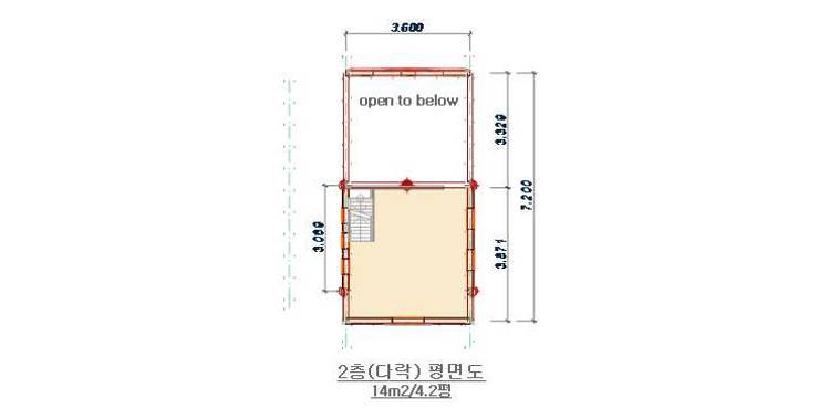 18평 소형 통나무집: 보국주택의  ,