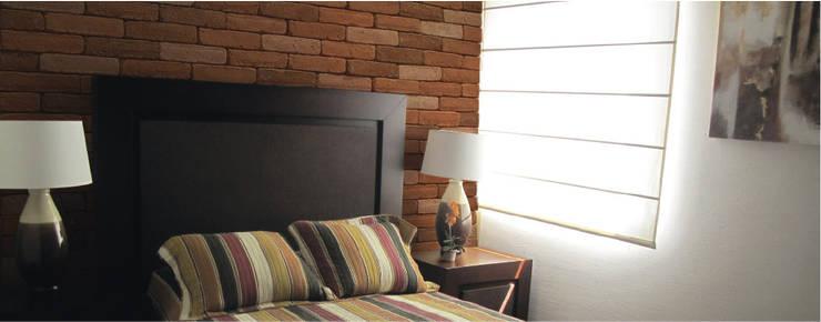 Paredes y pisos de estilo moderno por ENFOQUE CONSTRUCTIVO
