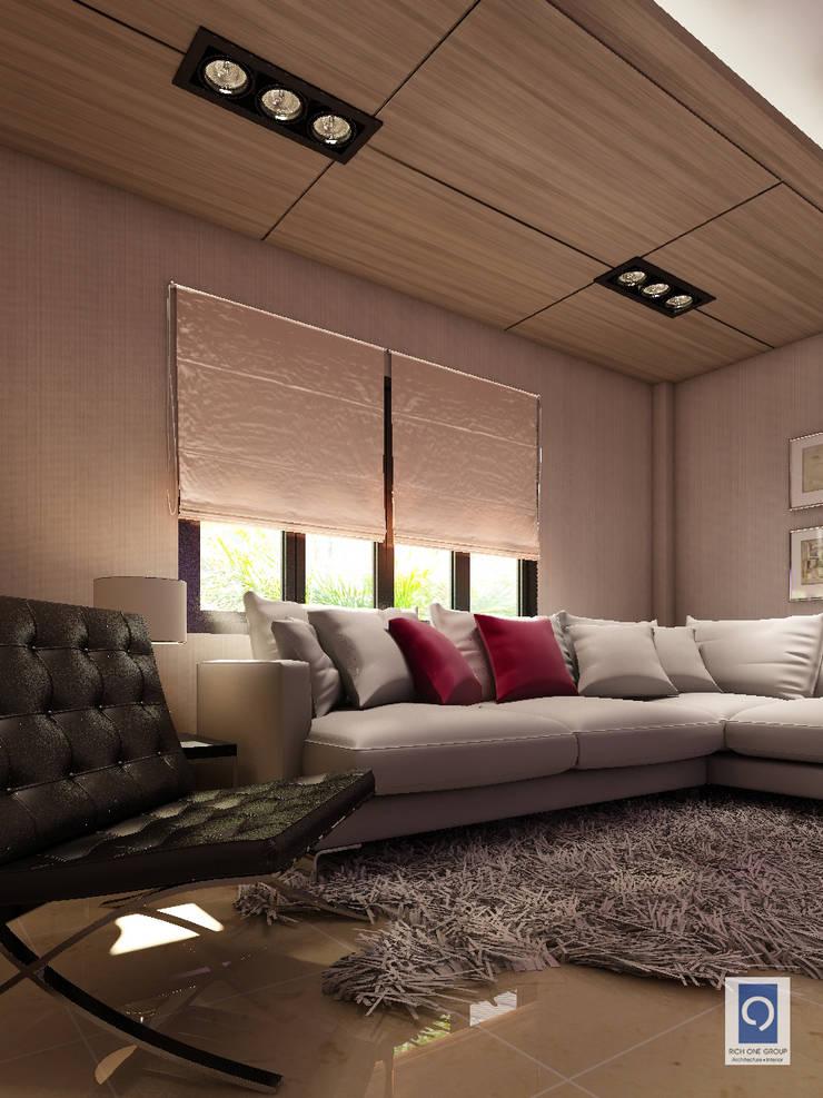 10 งานออกแบบห้องรับแขกที่ผสมผสาน ทั้งความหรูและดูดีได้อย่างลงตัว:   by ริชวัน กรุ๊ป