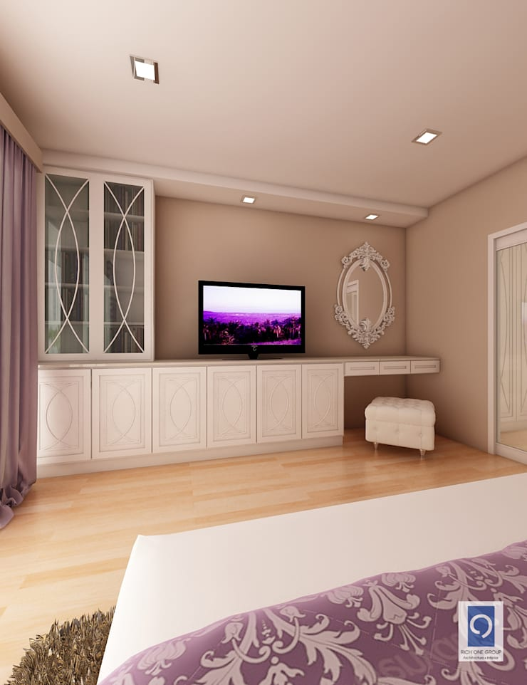 9 งานออกแบบห้องนอน ที่สวยดั่งเทพนิยาย:   by ริชวัน กรุ๊ป