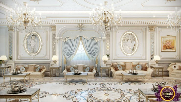Perfect interiors of Katrina Antonovich:  Living room by Luxury Antonovich Design