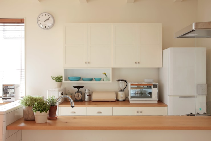 Projekty,  Kuchnia zaprojektowane przez こぢこぢ一級建築士事務所