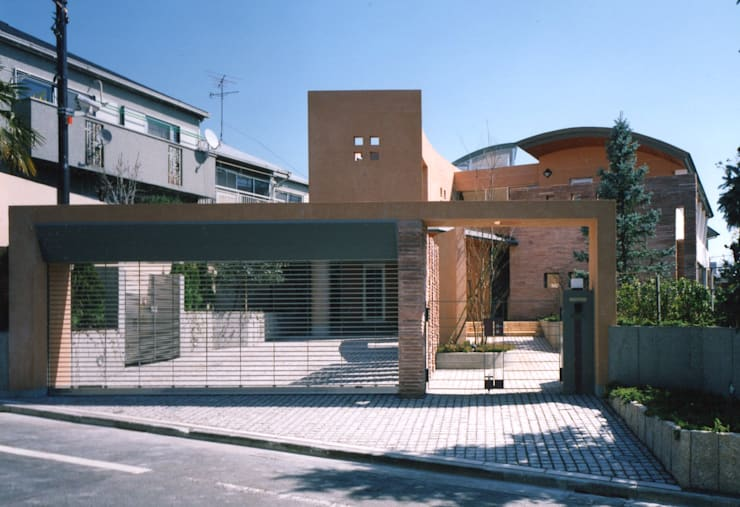 メインゲート 地中海風 家 の 豊田空間デザイン室 一級建築士事務所 地中海 石