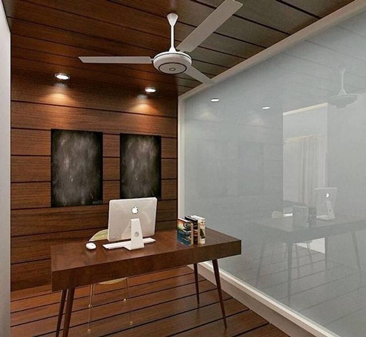 Residence in Mianwali, New Delhi: modern  by Farben Corner,Modern Wood Wood effect