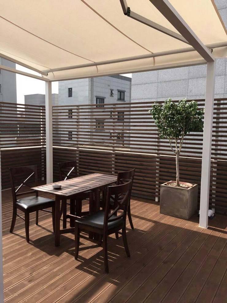 신림동 옥상 프로젝트: 다임디자인의  다이닝 룸