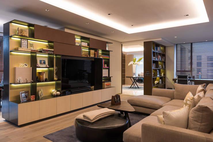 Departamento Citadel - ARCO Arquitectura Contemporánea: Salas multimedia de estilo  por ARCO Arquitectura Contemporánea