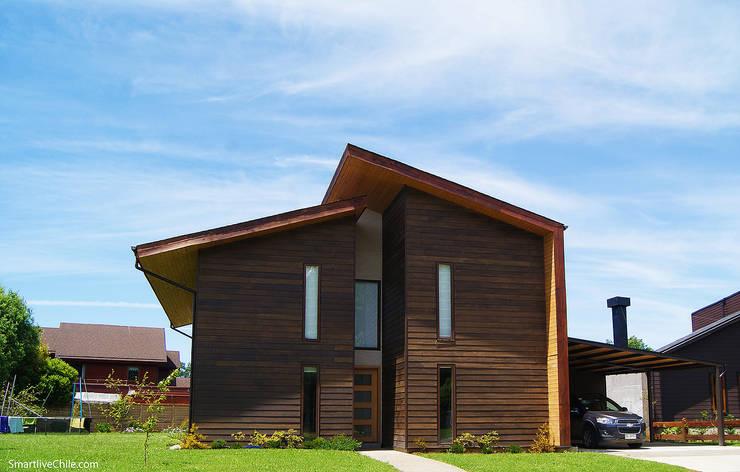 Fachada poniente : Casas de estilo  por Smartlive Studio