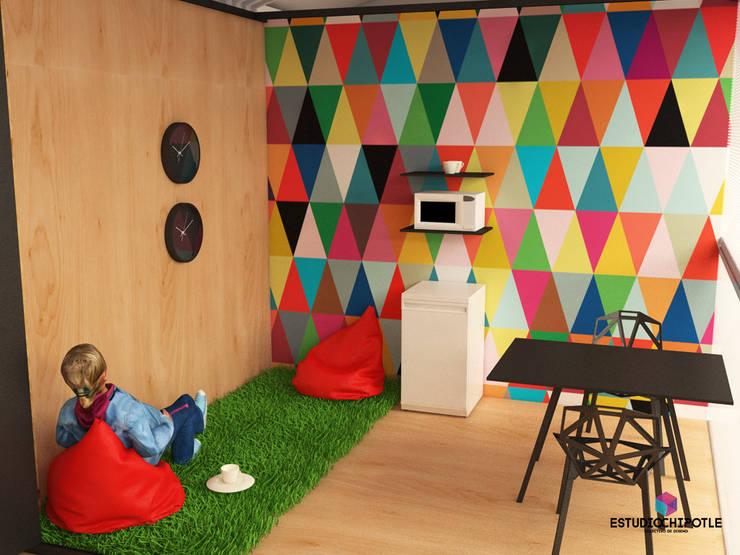 Cocina.: Oficinas y tiendas de estilo  por Estudio Chipotle