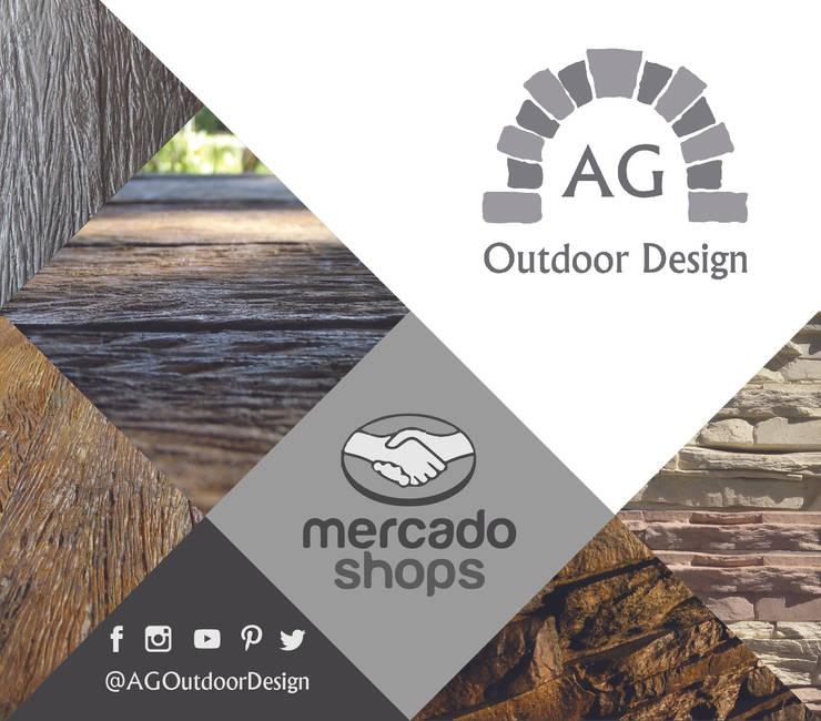 MERCADO SHOPS: Paredes y pisos de estilo  por AG Outdoor Design