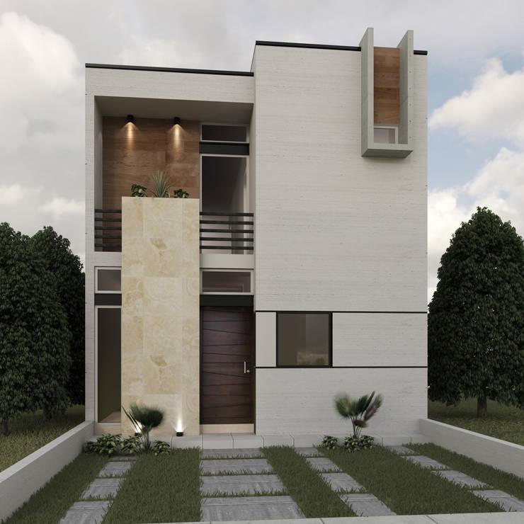 10 fachadas pequenas com sacada e o que levar em conta for Fachadas de casas para segunda planta