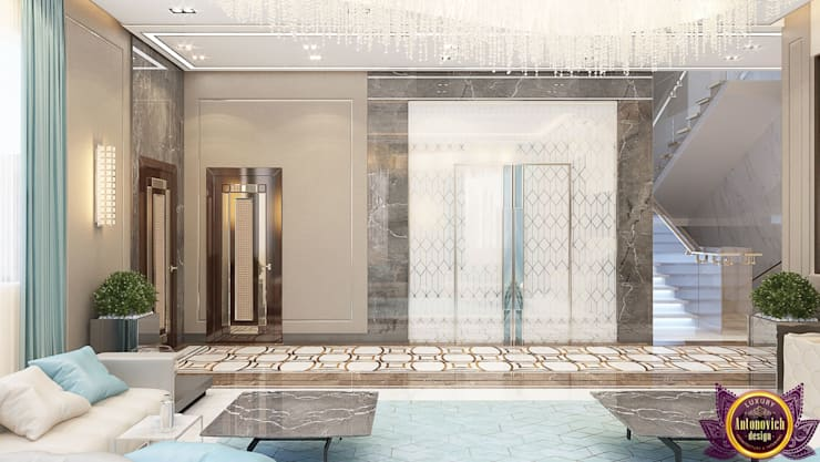 Modern house Design of Katrina Antonovich:  Living room by Luxury Antonovich Design