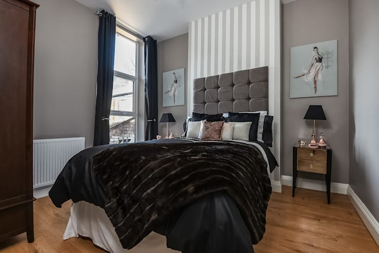 Projekty,  Sypialnia zaprojektowane przez Millennium Interior Designers